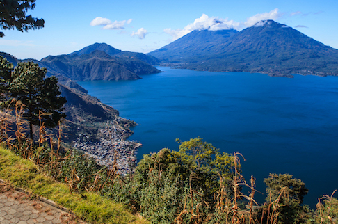 Lake Atitlan Volcanoes from the East
